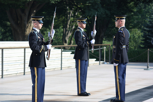 Changing of the Guard on Memorial Day