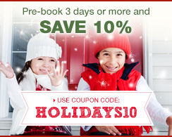 Pre-book 3 days or more and save 10%